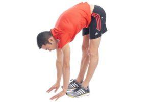 Physiotherapie - Mann macht Sport